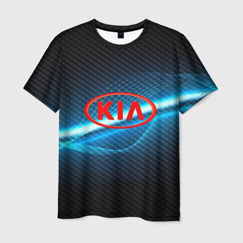 Мужская футболка 3D KIA machine motor XXI