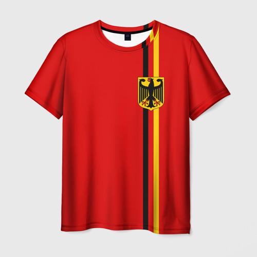 Мужская футболка 3D Германия, лента с гербом