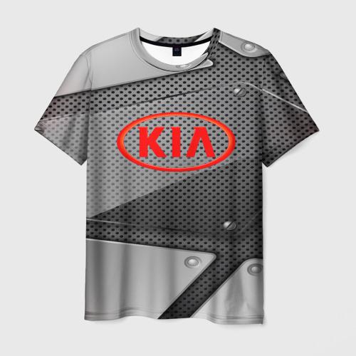 Мужская футболка 3D KIA metalic 2018