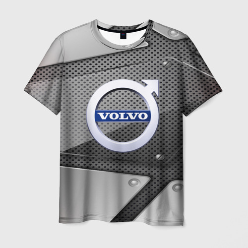 Мужская футболка 3D VOLVO metalic 2018