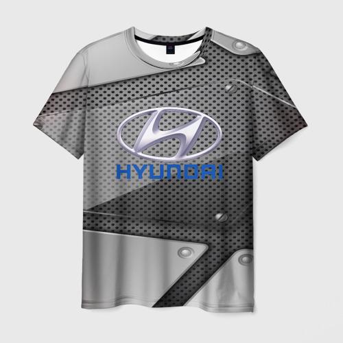 Мужская футболка 3D HYUNDAI metalic 2018