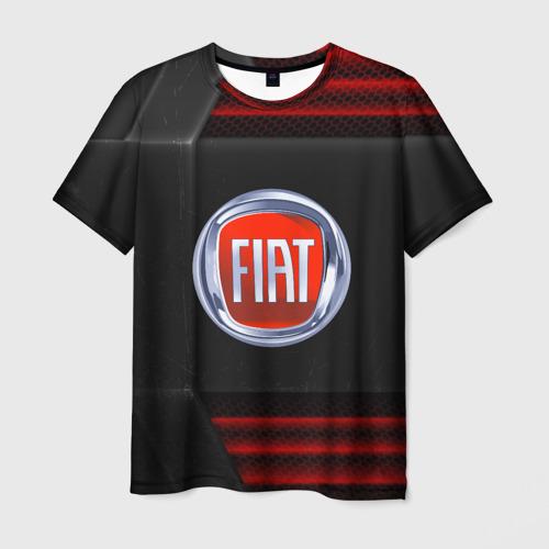 Мужская футболка 3D FIAT auto sport