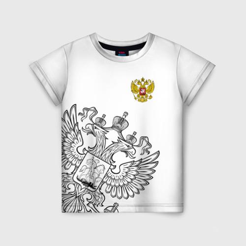 Детская футболка 3D Герб РФ White
