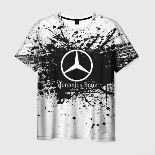 Мужская футболка 3D Mercedes-Benz