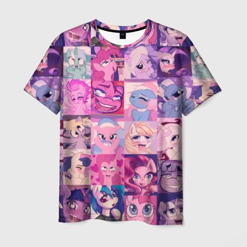 Мужская футболка 3D My Little Pony Ahegao