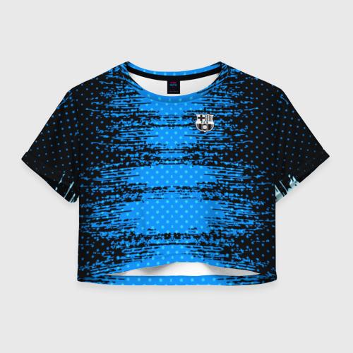Женская футболка Crop-top 3D Barcelona sport uniform