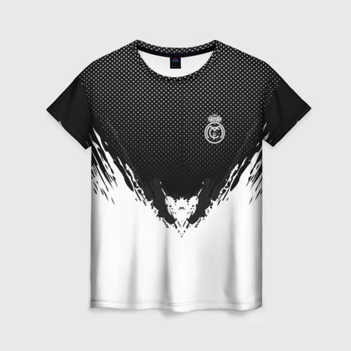 Женская футболка 3D Real Madrid black 2018