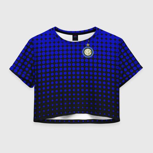 Женская футболка Crop-top 3D Интер