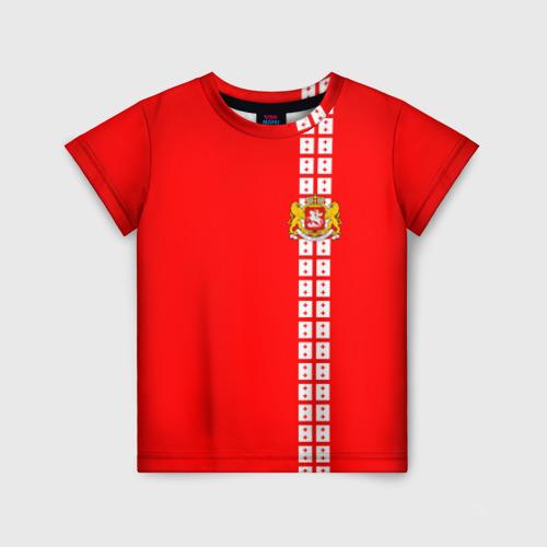 Детская футболка 3D Грузия, лента с гербом