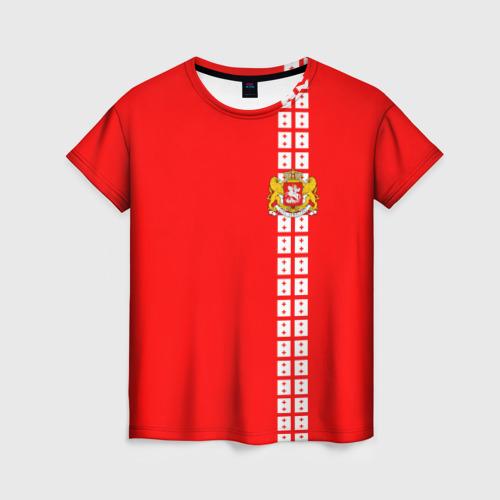 Женская футболка 3D Грузия, лента с гербом