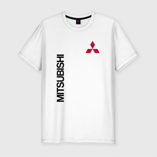 Мужская футболка хлопок Slim Mitsubishi