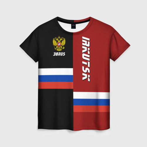 Женская футболка 3D IRKUTSK (Иркутск)