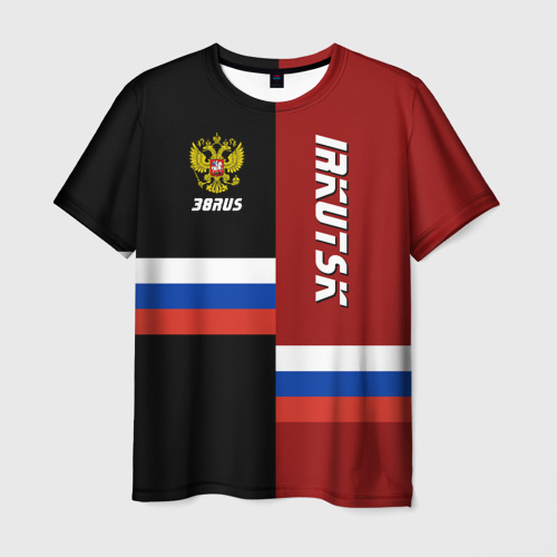 Мужская футболка 3D IRKUTSK (Иркутск)