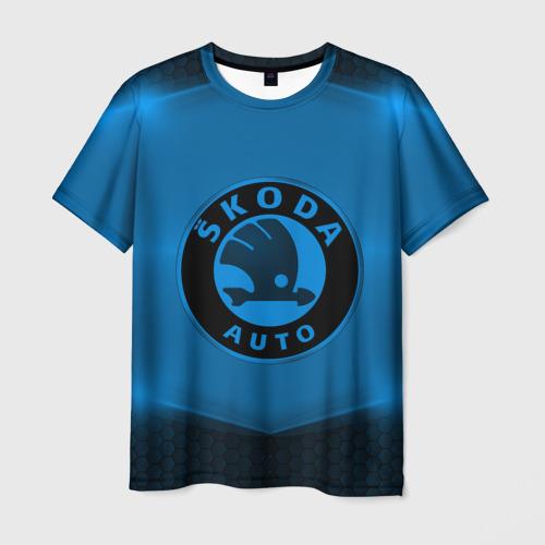 Мужская футболка 3D Skoda SPORT