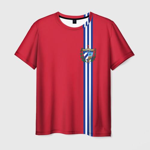 Мужская футболка 3D Куба, лента с гербом