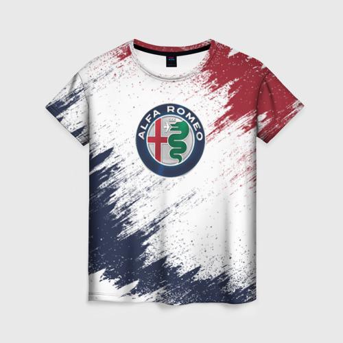 Женская футболка 3D Alfa Romeo