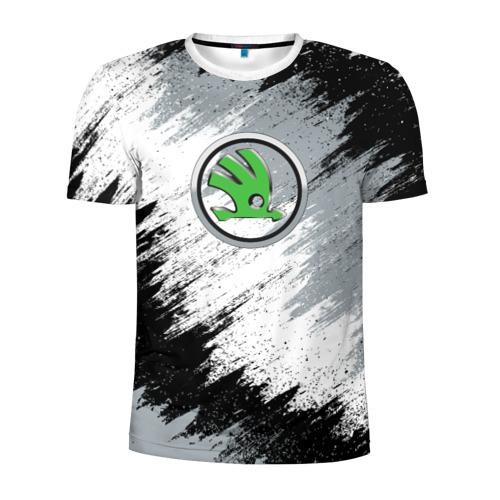 Мужская футболка 3D спортивная SKODA