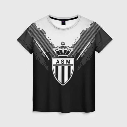 Женская футболка 3D Monaco abstract original