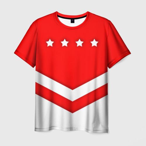 Мужская футболка 3D Звезды и полосы