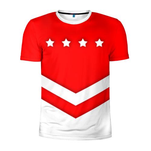 Мужская футболка 3D спортивная Звезды и полосы