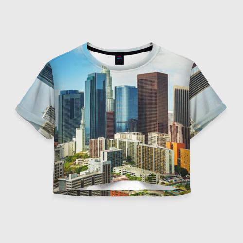 Женская футболка Crop-top 3D Los Angeles