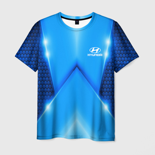 Мужская футболка 3D Hyundai car sport SKY