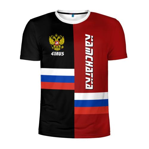 Мужская футболка 3D спортивная KAMCHATKA (Камчатка)