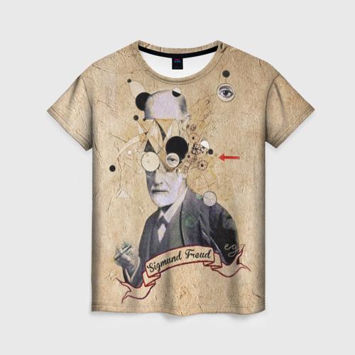 Женская футболка 3D Зигмунд Фрейд
