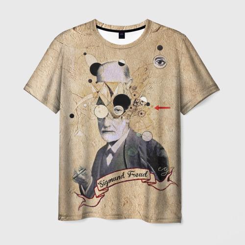 Мужская футболка 3D Зигмунд Фрейд