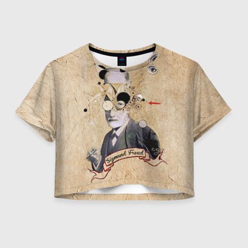 Женская футболка Crop-top 3D Зигмунд Фрейд
