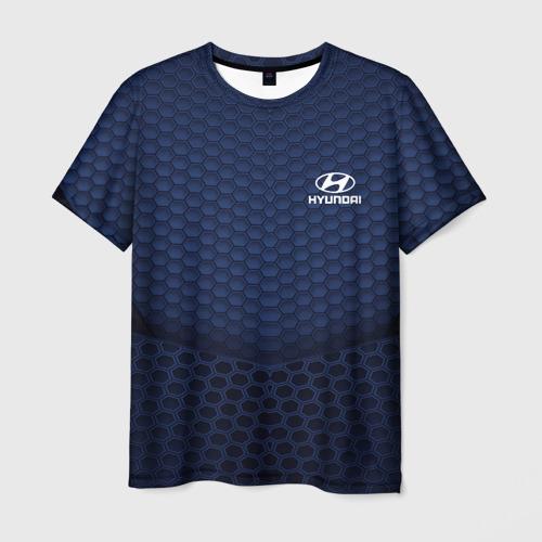 Мужская футболка 3D Hyundai SPORT MOTORS