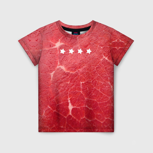 Детская футболка 3D Мясо 100%