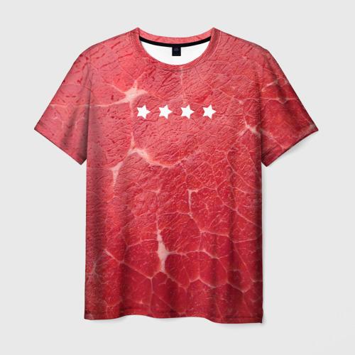 Мужская футболка 3D Мясо 100%