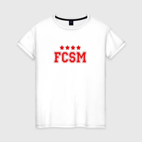 Женская футболка хлопок Футбольный клуб