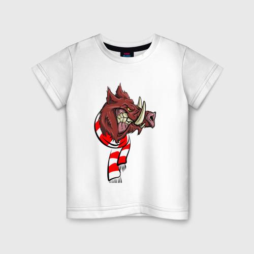 Детская футболка хлопок Крутой кабан