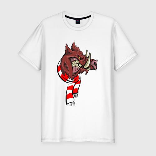 Мужская футболка хлопок Slim Крутой кабан