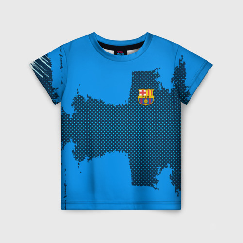 Детская футболка 3D BARCELONA SPORT BLUE