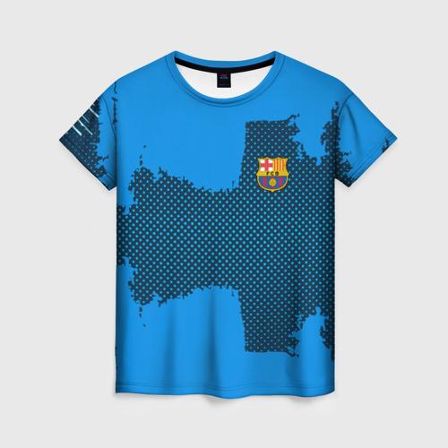 Женская футболка 3D BARCELONA SPORT BLUE