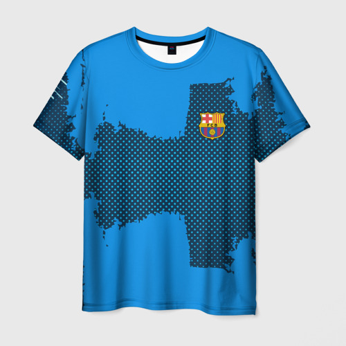 Мужская футболка 3D BARCELONA SPORT BLUE