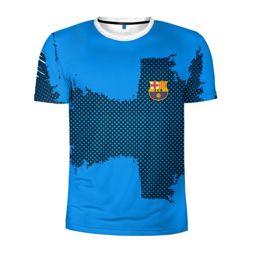 Мужская футболка 3D спортивная BARCELONA SPORT BLUE