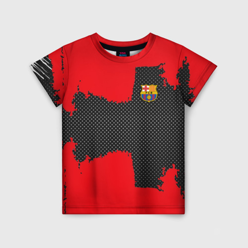 Детская футболка 3D BARCELONA SPORT RED