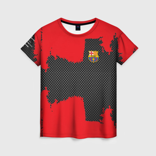 Женская футболка 3D BARCELONA SPORT RED