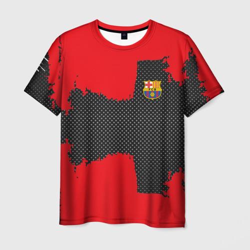 Мужская футболка 3D BARCELONA SPORT RED