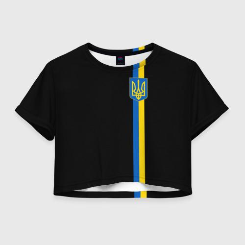 Женская футболка Crop-top 3D Украина