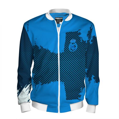 Мужской бомбер 3D REAL MADRID SPORT BLUE