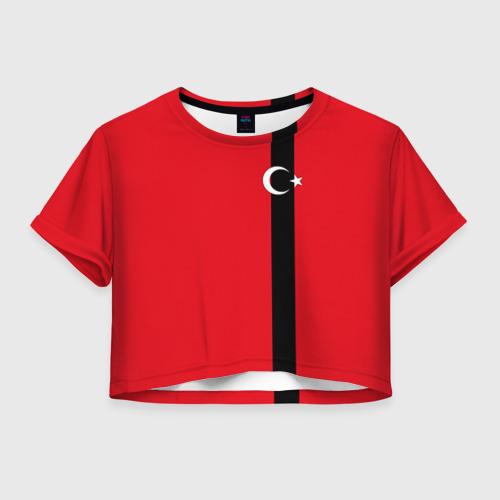 Женская футболка Crop-top 3D Турция лента