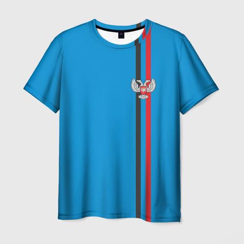 Мужская футболка 3D ДНР, лента с гербом