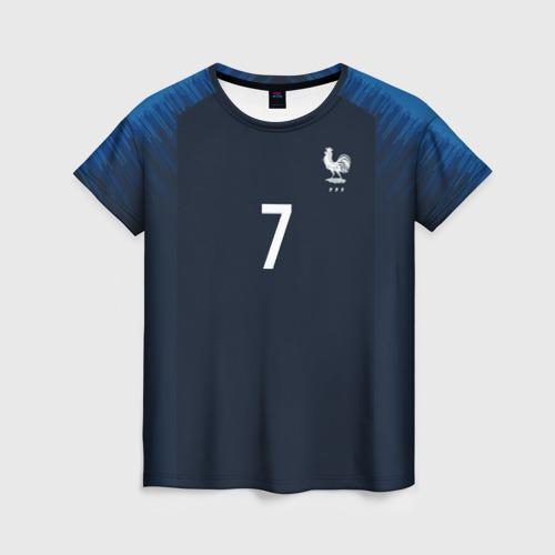 Женская футболка 3D Griezmann home 18-19 WC