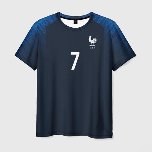 Мужская футболка 3D Griezmann home 18-19 WC