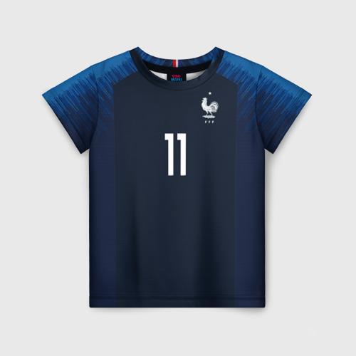 Детская футболка 3D Dembele home 18-19 WC
